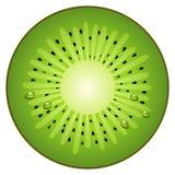 Meio quivi da fruta do círculo Fotos de Stock