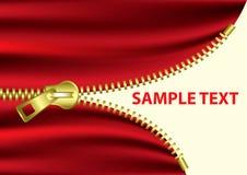 Meio Zipper aberto - vetor do EPS Imagem de Stock Royalty Free