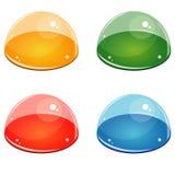 Meios botões da bolha ilustração stock