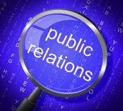 Meios comunicado de imprensa e ampliação das relações públicas ilustração stock