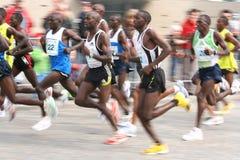 Meios corredores de maratona Imagens de Stock