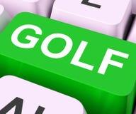 Meios da chave do golfe que Golfing em linha ou jogador de golfe Imagens de Stock
