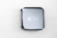 Meios de tevê novos de Apple que fluem o microconsole do jogador Fotografia de Stock Royalty Free