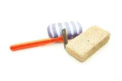 Meios diferentes da higiene - polimento, a máquina para barbear e Imagem de Stock Royalty Free