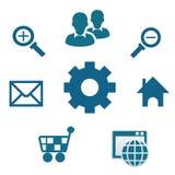 Meios do Internet e ícone de uma comunicação Foto de Stock
