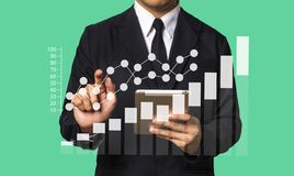 Meios do mercado de Digitas na tela virtual Negócios fotos de stock royalty free
