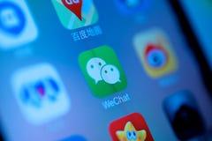 Meios do Social de WeChat do chinês Imagens de Stock Royalty Free