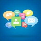 Meios do social do Internet Imagens de Stock Royalty Free