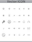 Meios do vetor e ícones azuis da Web do entretenimento ilustração royalty free