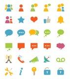 Meios e ícones de uma comunicação Imagem de Stock