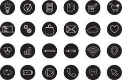 Meios e ícones de uma comunicação Fotos de Stock