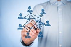 Meios e conexões sociais Fotografia de Stock