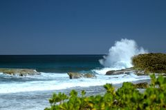 Meios Puerto Rico Seascape Foto de Stock Royalty Free