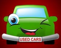 Meios segundos mão e automóvel dos carros usados Foto de Stock Royalty Free