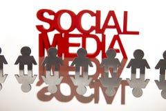 Meios sociais imagens de stock royalty free