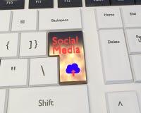 Meios sociais e conceito social dos trabalhos em rede foto de stock