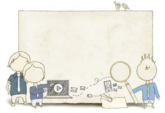 Meios sociais e espaço vazio ilustração do vetor