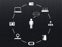 Meios sociais, rede Imagens de Stock Royalty Free