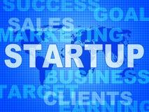 Meios Startup das palavras independentes e empresário Fotografia de Stock