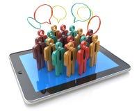 Meios, uma comunicação do Internet e marke sociais criativos do negócio Imagens de Stock