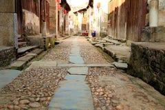 Meipi-Dorf, ein mysteriöses und altes chinesisches Dorf Stockbild