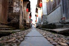 Meipi Village , a mysterious and ancient chinese village Stock Images