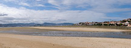 Meira, Moaña, Pontevedra, Spain. With Vigo at the other side of the bay Stock Photo