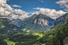 Meiringen em Suíça é uma obrigação vai área fotografia de stock royalty free