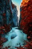 Meiringen i Schweiz är ett måste går område Arkivbilder