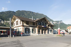 Meiringen train station, Switzerland stock photography