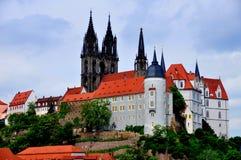 Meisen, Niemcy: Burberg z Albrechtsburg kasztelem Fotografia Stock