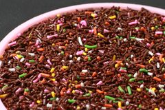 meises sprinkles close up royalty free stock photography