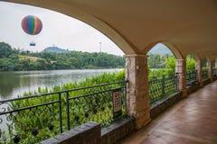 Meisha 10月东部深圳茶小河谷网球大厅走廊 库存图片