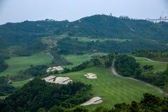 Meisha 10月东部深圳风谷高尔夫球场 库存照片