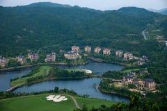 Meisha 10月东部深圳风谷高尔夫球场 库存图片