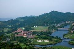 Meisha 10月东部深圳风谷高尔夫球场 免版税库存照片