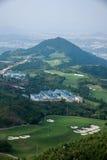 Meisha 10月东部深圳风谷高尔夫球场 免版税库存图片