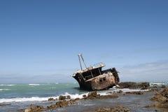 Meisho Maru Wreck,. Meisho Maru Wreck at Cape Agulhas Royalty Free Stock Photos