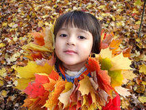 Meisje 1 van de herfst Stock Afbeeldingen
