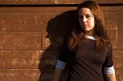 Meisje 2 van de muur Royalty-vrije Stock Foto