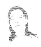 Meisje 2 van de tekst Royalty-vrije Stock Afbeeldingen