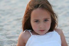 Meisje 2 van het strand Stock Foto's