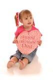 Meisje 4 van de valentijnskaart stock afbeeldingen