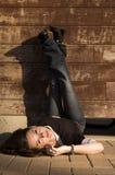 Meisje 6 van de muur Stock Foto