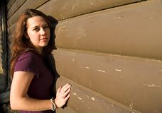 Meisje 7 van de muur Stock Fotografie