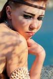 Meisje - Amazonië Royalty-vrije Stock Foto