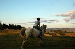 Meisje & paard royalty-vrije stock afbeeldingen