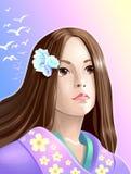 Meisje anime stock illustratie