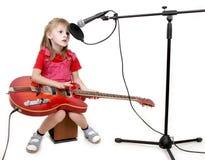 Meisje in audiostudio Royalty-vrije Stock Afbeelding