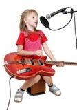 Meisje in audiostudio Royalty-vrije Stock Fotografie